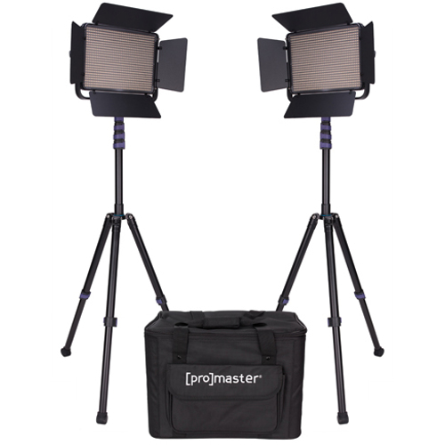 ProMaster-LED1000B Specialist LED 2 Light Transport Kit - Bi-Color #1882-Studio Lighting Kits