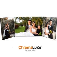 5x7 Hinged Tri Panel ChromaLuxe -White Gloss