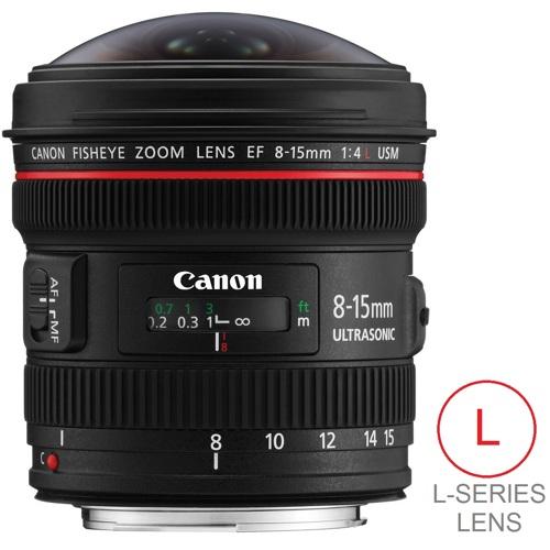 Canon-EF 8-15mm f4L Fisheye USM-Lenses - SLR & Compact System