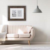 "Bergamo Rustic Brown Wood Photo Frame for 2 4x6"" / 10x15cm"