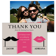 Retro - 2 Sided Thank You  3.5x5