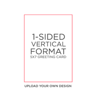 CREATE-A-CARD: 10PK 5X7 FLAT 1-SIDED CARDS