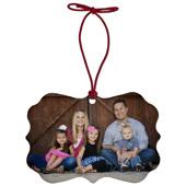 Vintage Rectangle Memento Ornament