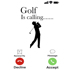 "Golf Is Calling"" - White Mug - Add your own text"