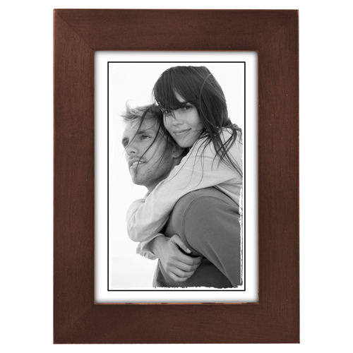 Malden-4x6 Linear Dark Walnut-Photo Frames
