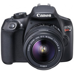 Canon-EOS Rebel T6 with EF-S 18-55mm IS II Lens - Black-Digital Cameras