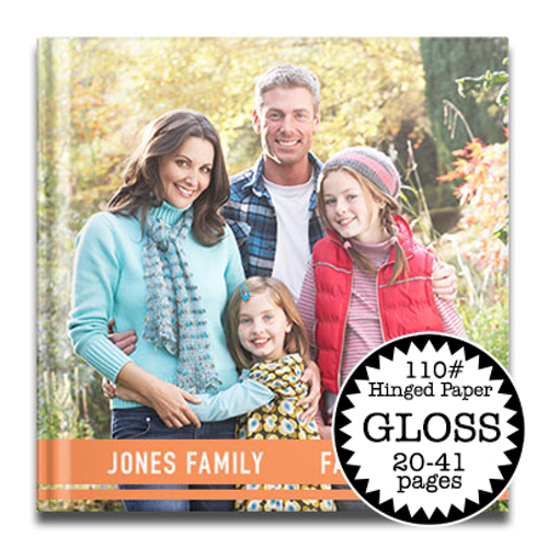 12 x 12 Gloss Hard Cover photo book / 110# Hinged Paper (20-41 Pages)