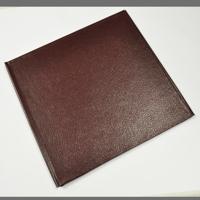 12x12 Premium Luster Photobook - BurgundN Textured Leather Cover
