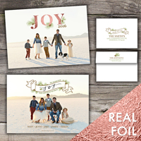 Wishing You Joy<br>5x7 Foil<br>Envelope