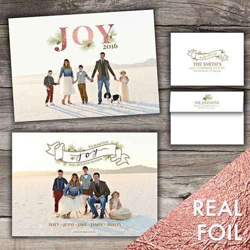 Wishing You Joy<br>5x7 Foil<br>Envelope