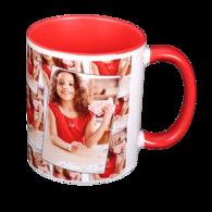 11 oz. Tiled Ceramic Red Photo Mug