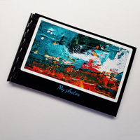 Flip Book - Black Embossed Frame