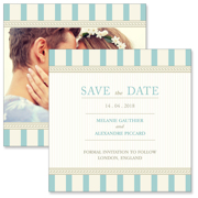 Vintage A - 2 Sided Save the Date  6x6