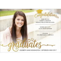 5x7 - Flat Photo Card - Congratulations Grad - 1 Sided