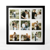 13x13 Black Wall Frame w/Prints