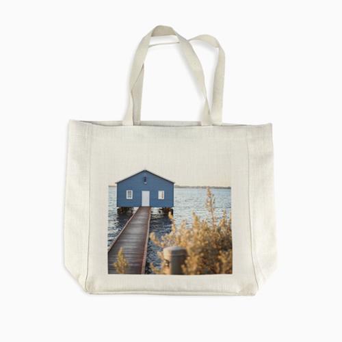 PG Linen Shopping Bag