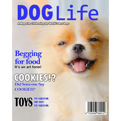 8x10 Dog Life Magazine Cover