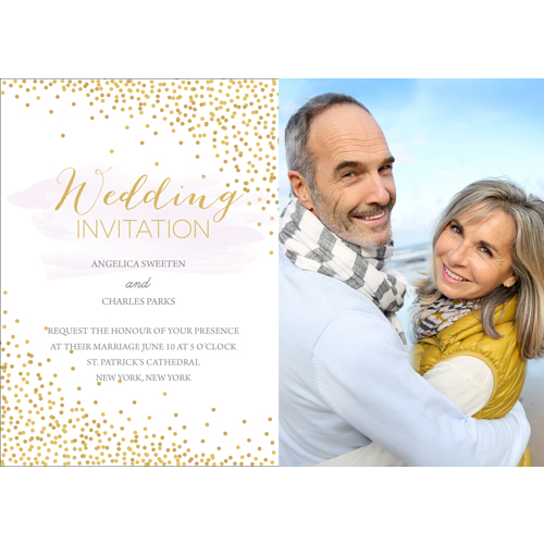 Confetti - 1 Sided Invitation