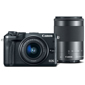 Canon-EOS M6 Interchangeable Lens Camera with EF-M 15-45mm and EF-M 55-200mm Lenses-Digital Cameras