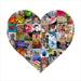 12 x 12 Heart Collage (65 photos)
