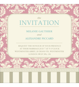 Vintage C - 1 Sided Invitation