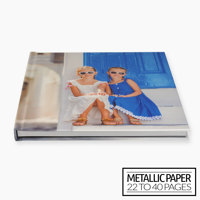 11x8½ Layflat Hardcover Photo Book / Metallic Paper (22-40 Pages)