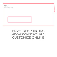 50pk: #10 Envelope w/ Window