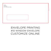 50pk: #10 Envelope w/ Window