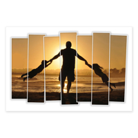500x750mm - 7 Slices Photo Print