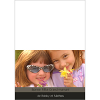 "Carte Style Simple (7""x5"") - Horizontal"