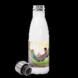 17 oz Slim White Water Bottle