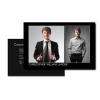 8.5 x 5.5 Comp Card (2-Sided) Black 3 Photos