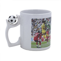 White mug 11oz Free layout with football on handle