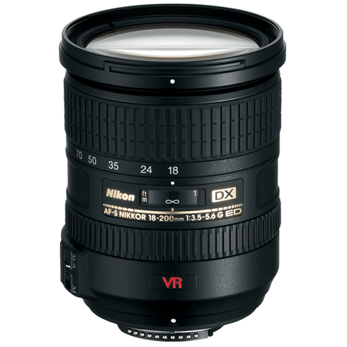 Nikon-AF-S 18-200mm DX VR II Zoom-NIKKOR f3.5-5.6G IF-ED-Lenses - SLR & Compact System