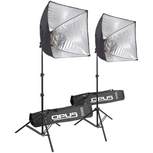 Two Light Portable Studio Kit Easy Go Opl Ezbase Kt2