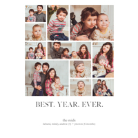 Year of Photos: 10pk New Year Cards