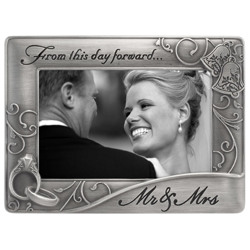 Malden-4x6 Mr. and Mrs. Waves Pewter-Photo Frames