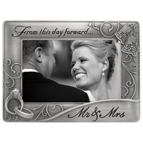Malden-4x6 Mr. and Mrs. Waves Pewter-Photo Frames