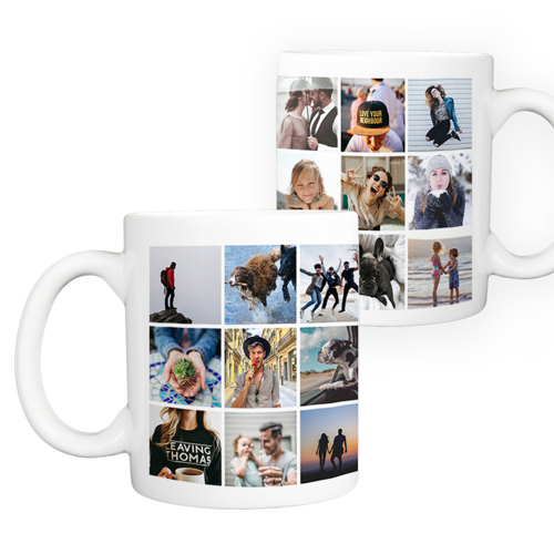 11 oz. Ceramic Mug Collage - 24 images