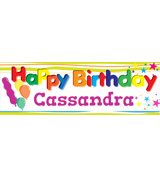12 x 36 Happy Birthday Banner