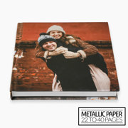 10x10 Layflat Hardcover Photo Book / Metallic Paper (22-40 Pages)
