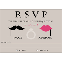 Retro - 1 Sided RSVP