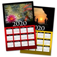 """Affiche d'un calendrier 2020 avec fond personnalisé (11""""x17"""") - Vertical"""