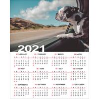 """400x500mm (16 x 20"""") Poster Calendar - 2021"""