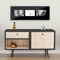 "Black Glass Multi Frame for 3 4x6"" / 10x15cm"