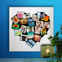 12 x 12 Heart Collage Metal Print - 20 photos