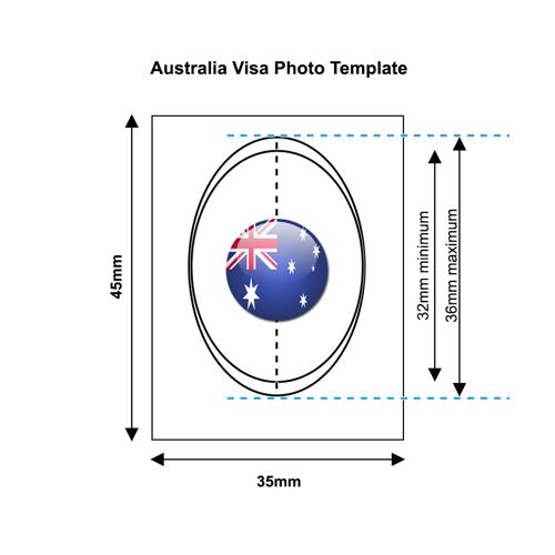 Australian Visa Photo Template