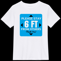 6 feet distance T-Shirt