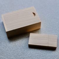 Wooden USB3.0 + Box - 4GB - Vanilla Rectangle