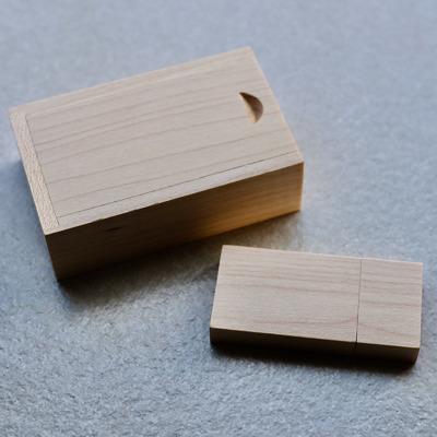 Wooden USB3.0 + Box - 16GB - Vanilla Rectangle